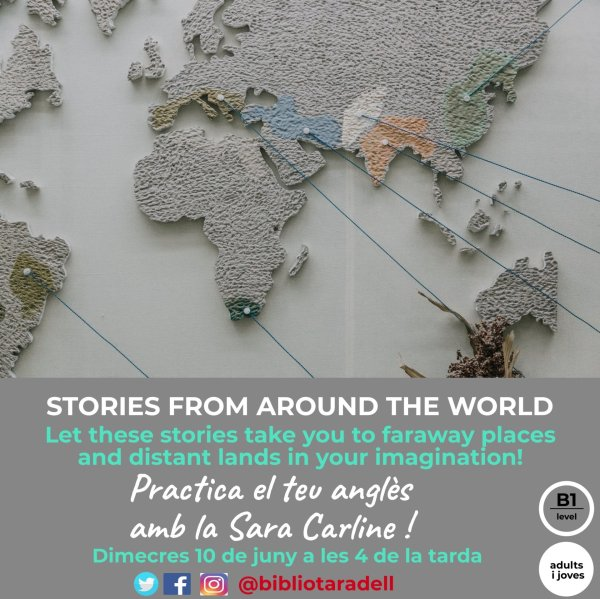 'Stories from around the world' amb Sara Carline