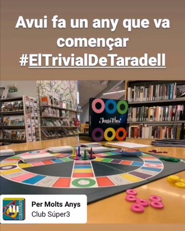 Torna el 'Trivial de la Biblioteca' a les històries de l'Instagram de la Biblio