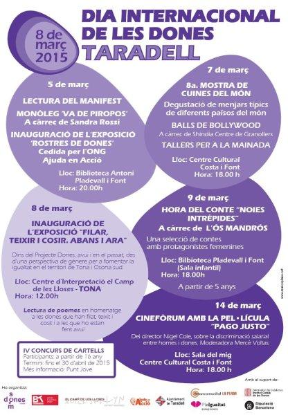 Programa d 39 actes en commemoraci del dia internacional de les dones - Cuines granollers ...