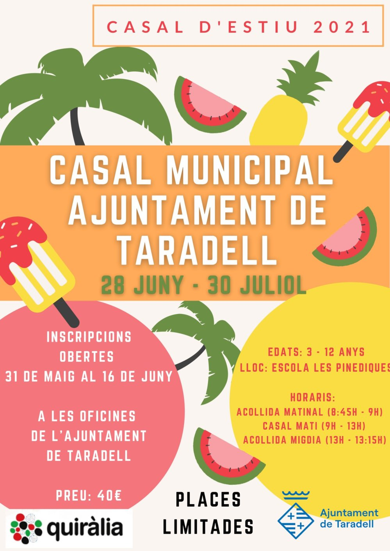 Casal d'estiu municipal - Cartell 2021