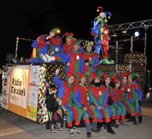 Els col·laboradors de l'emissora, al Carnaval.