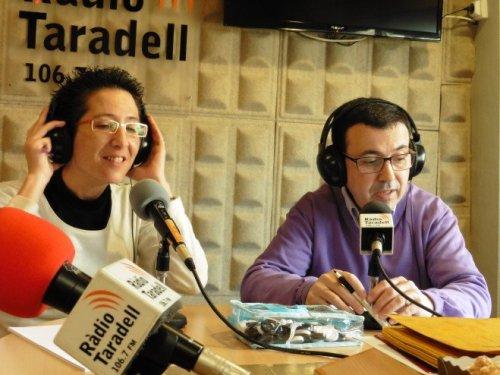 Esther Mendoza i Xavier Artigas, responsables del concurs 'S'acaba el temps'.