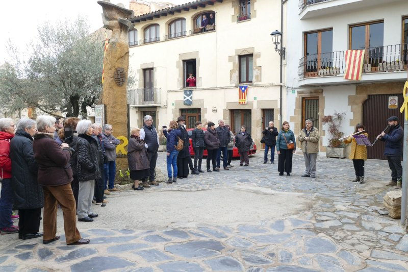 Homenatge a Josep Ricart Maimir a la la Plaça de Santa Llúcia de Taradell