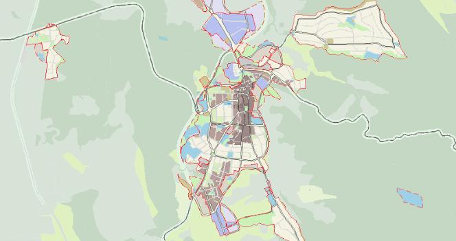 Mapa urbanístic de Taradell