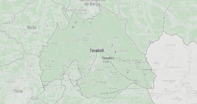Mapa aplicació SitMun de la Diputació de Barcelona