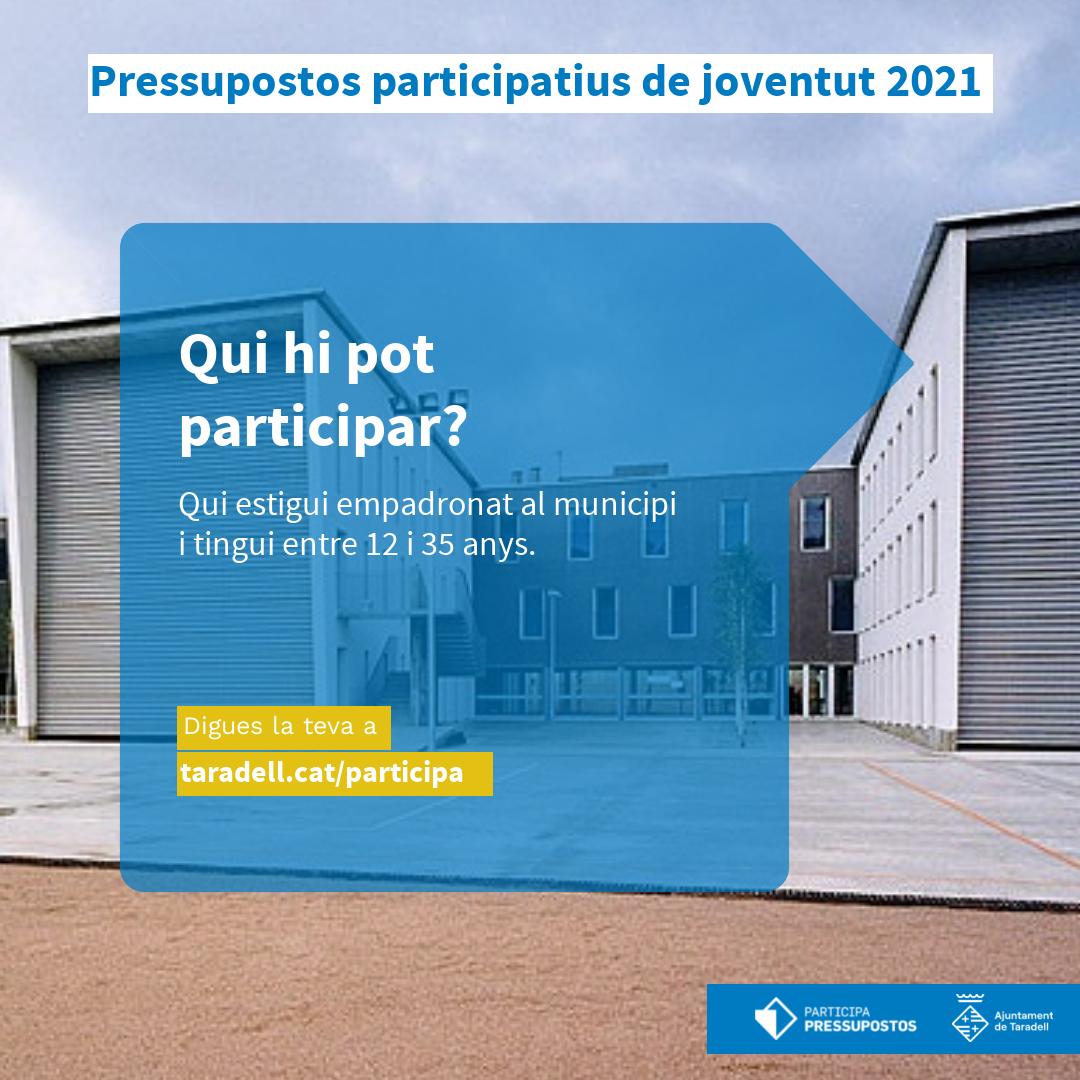 Pressupostos Participatius de Joventut 2021 - Taradell